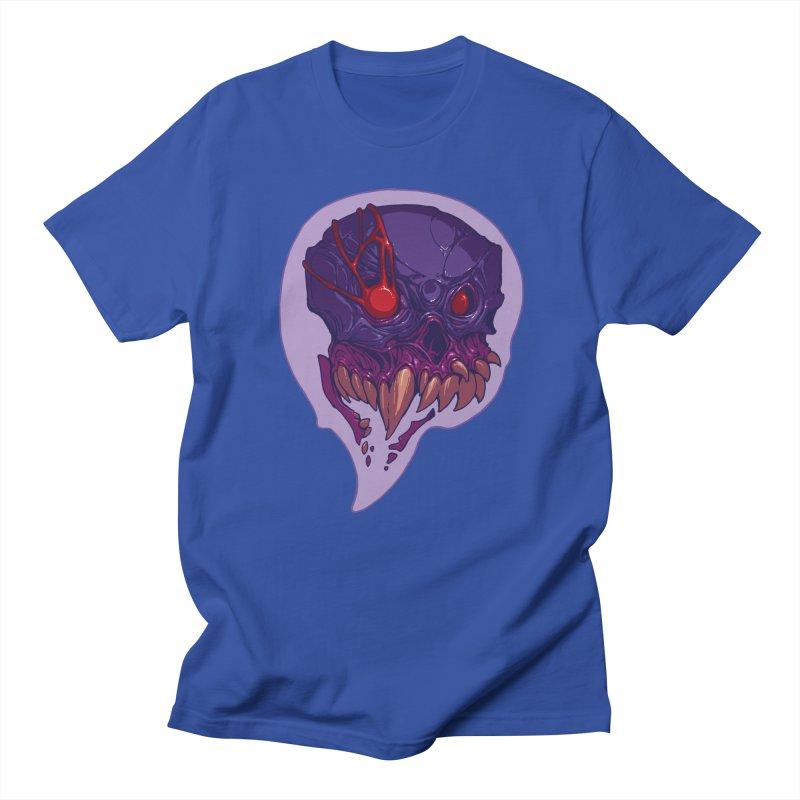 Skull Bubble in Men's Regular T-Shirt Royal Blue by brockhofer's Artist Shop
