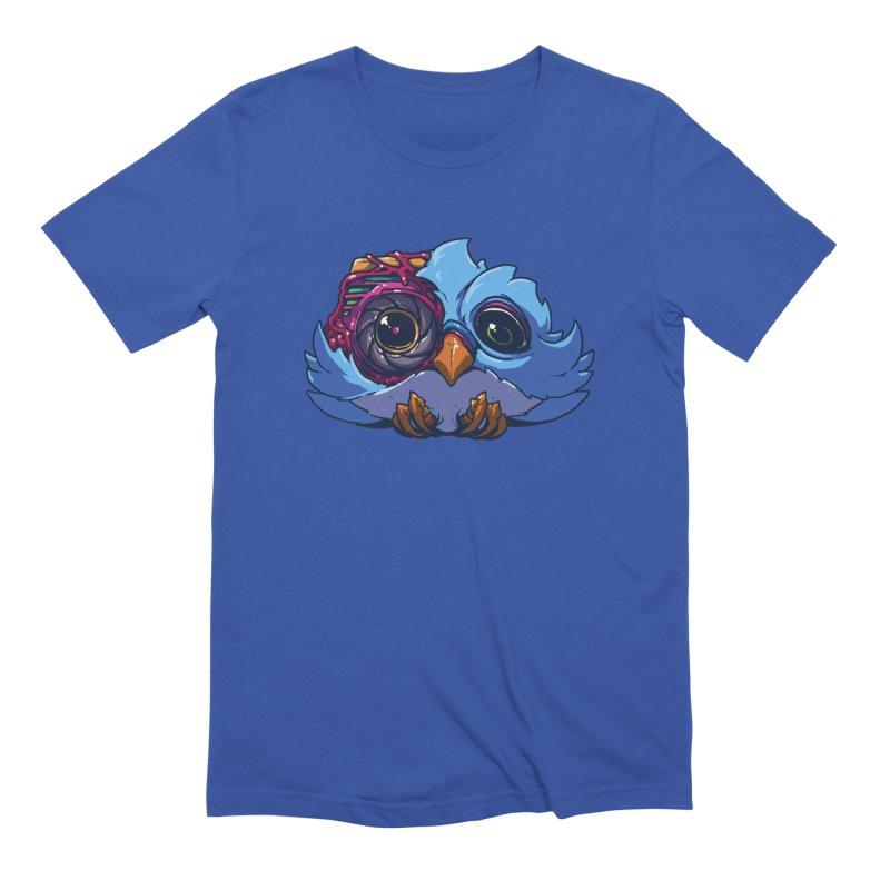 The Bird in Men's Extra Soft T-Shirt Royal Blue by brockhofer's Artist Shop