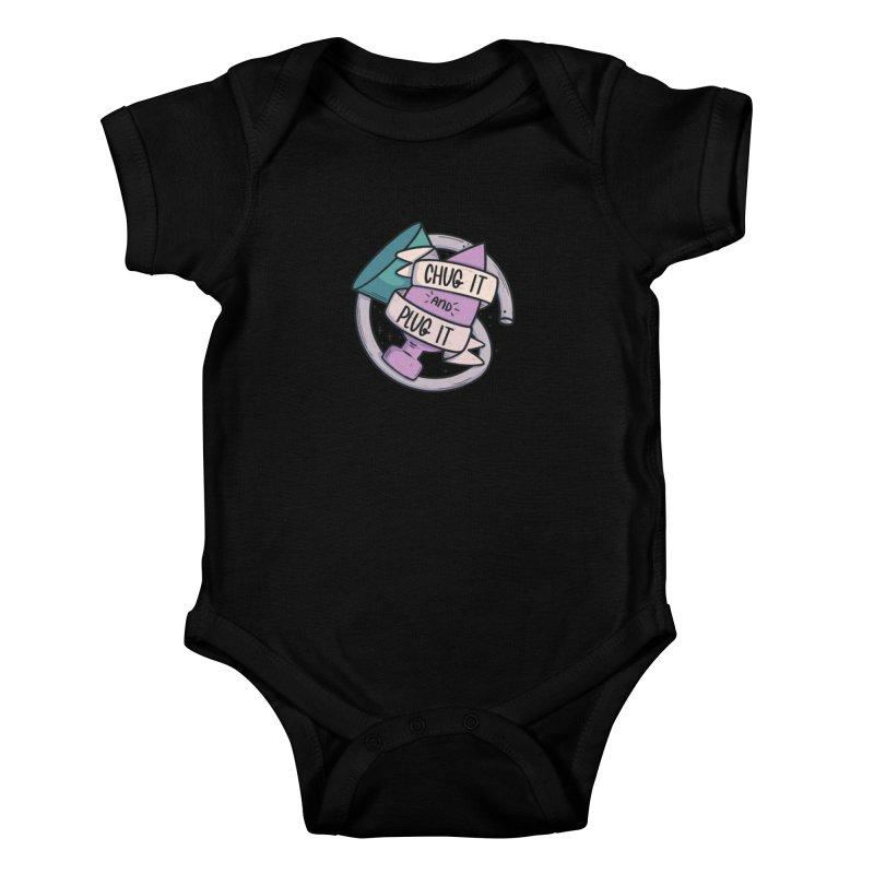Chug it and Plug it!! Kids Baby Bodysuit by Brohio Merch