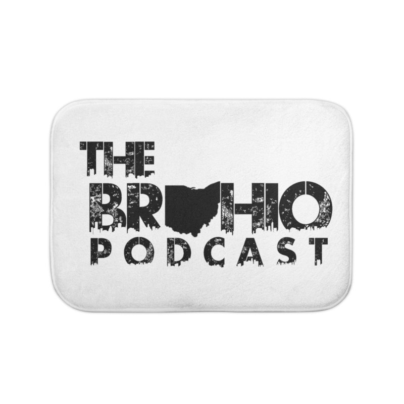 Brohio Logo, Text only. Home Bath Mat by Brohio Merch