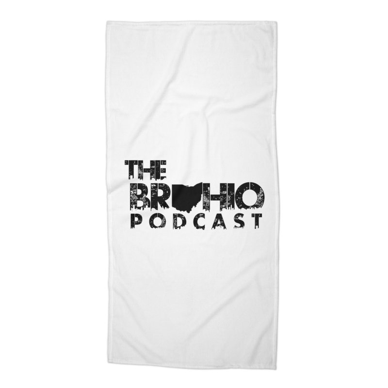 Brohio Logo, Text only. Accessories Beach Towel by Brohio Merch