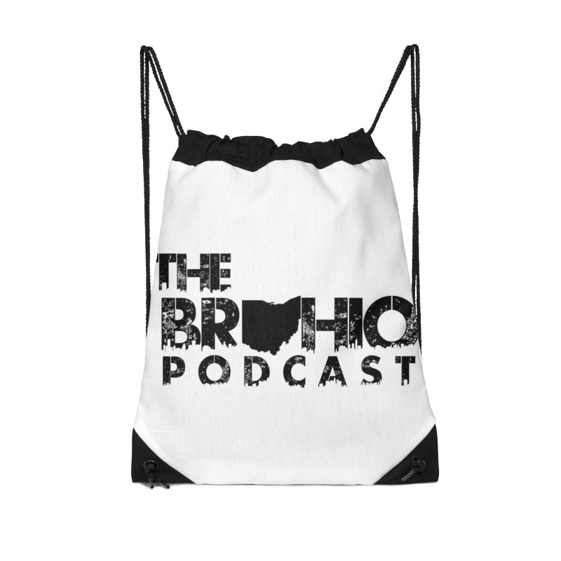 Brohio Logo, Text only. Accessories Drawstring Bag Bag by Brohio Merch