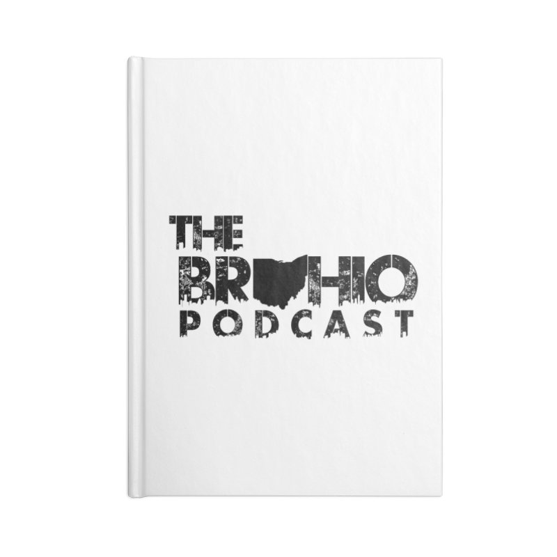 Brohio Logo, Text only. Accessories Blank Journal Notebook by Brohio Merch