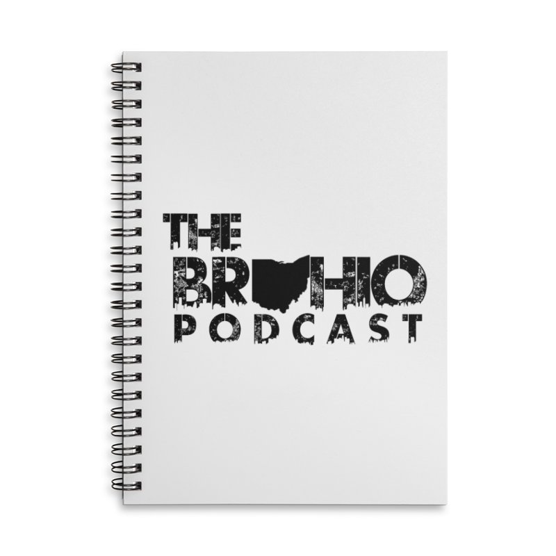 Brohio Logo, Text only. Accessories Lined Spiral Notebook by Brohio Merch