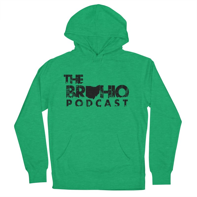 Brohio Logo, Text only. Men's French Terry Pullover Hoody by Brohio Merch
