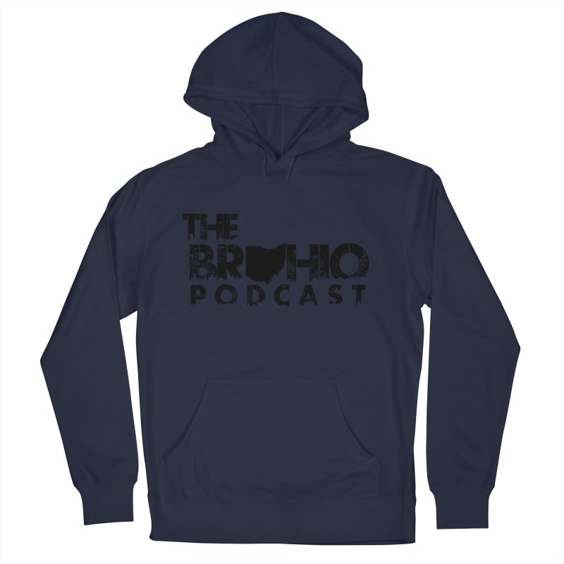 Brohio Logo, Text only. Men's Pullover Hoody by Brohio Merch