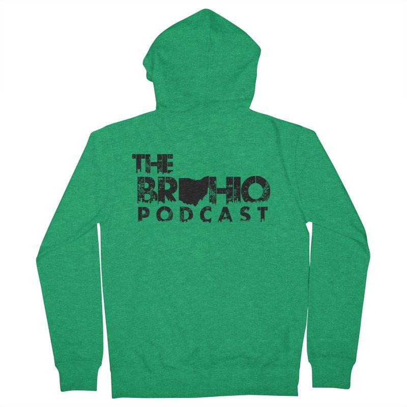 Brohio Logo, Text only. Women's Zip-Up Hoody by Brohio Merch