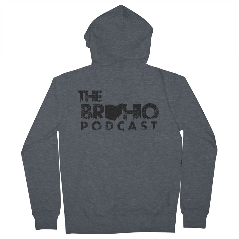 Brohio Logo, Text only. Men's French Terry Zip-Up Hoody by Brohio Merch