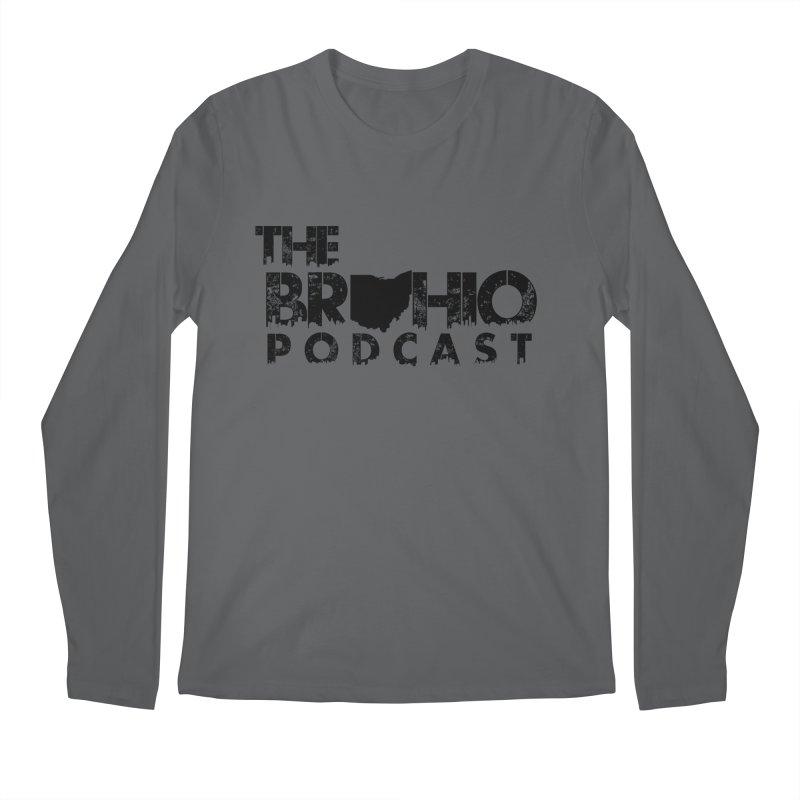 Brohio Logo, Text only. Men's Regular Longsleeve T-Shirt by Brohio Merch