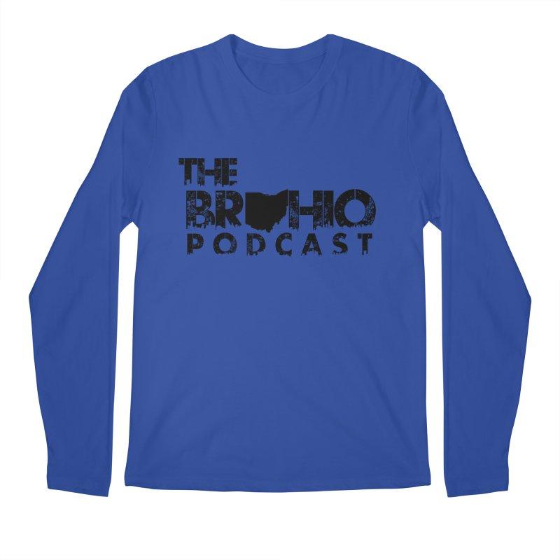Brohio Logo, Text only. Men's Longsleeve T-Shirt by Brohio Merch