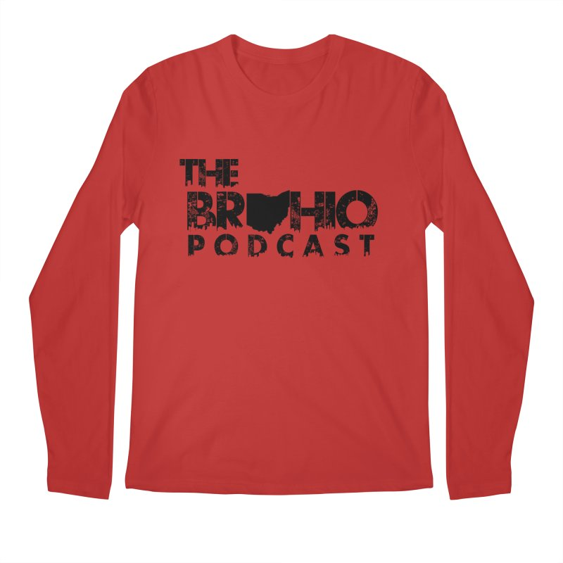 Brohio Logo, Text only. Men's Regular Longsleeve T-Shirt by Brohio Merch