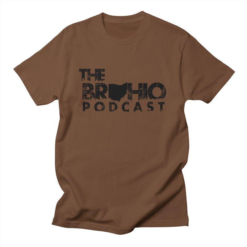 Brohio Logo, Text only. Men's Regular T-Shirt by Brohio Merch