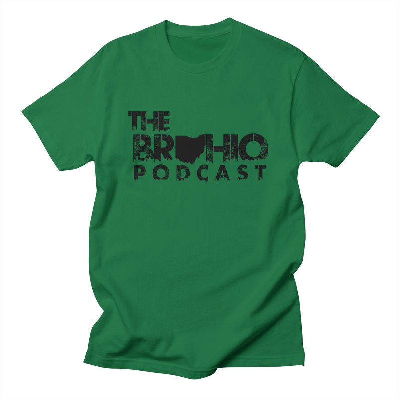 Brohio Logo, Text only. Men's Regular T-Shirt by Brohio Merch