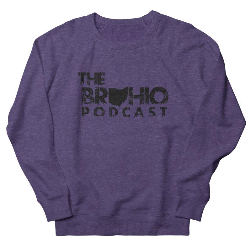 Brohio Logo, Text only. Men's French Terry Sweatshirt by Brohio Merch