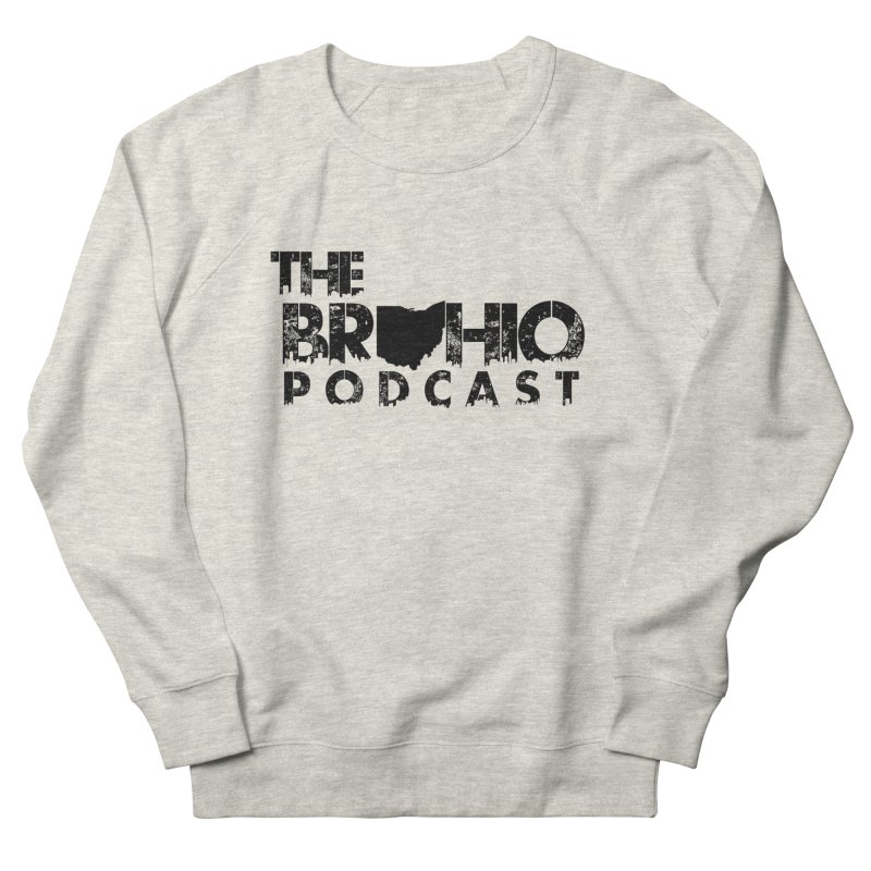 Brohio Logo, Text only. Men's French Terry Sweatshirt by Brohio Merch
