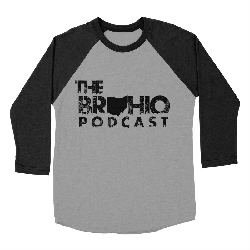 Brohio Logo, Text only. Women's Baseball Triblend Longsleeve T-Shirt by Brohio Merch