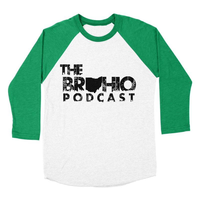 Brohio Logo, Text only. Men's Baseball Triblend Longsleeve T-Shirt by Brohio Merch