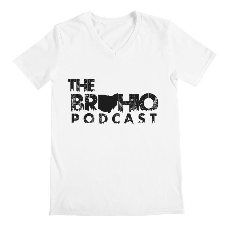 Brohio Logo, Text only. Men's V-Neck by Brohio Merch