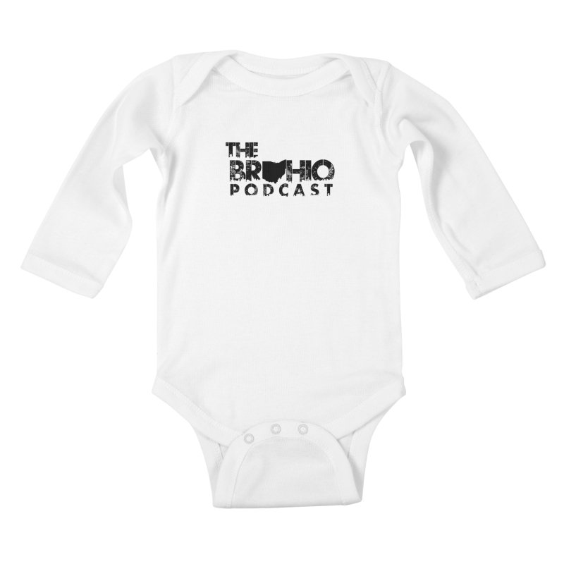 Brohio Logo, Text only. Kids Baby Longsleeve Bodysuit by Brohio Merch
