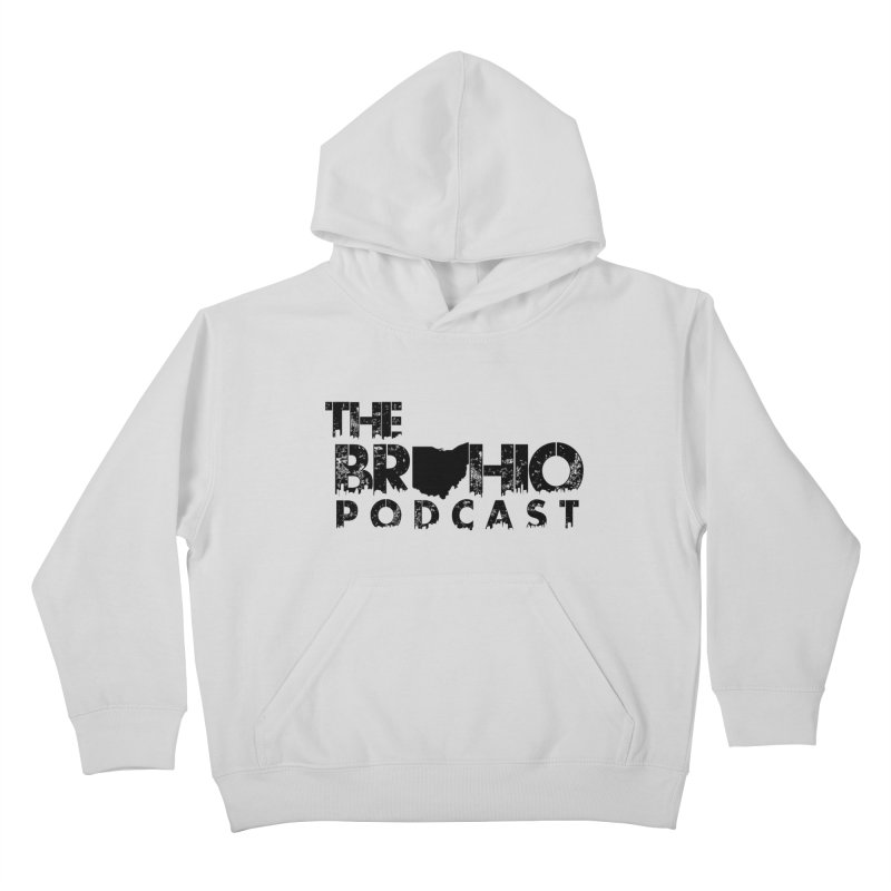 Brohio Logo, Text only. Kids Pullover Hoody by Brohio Merch