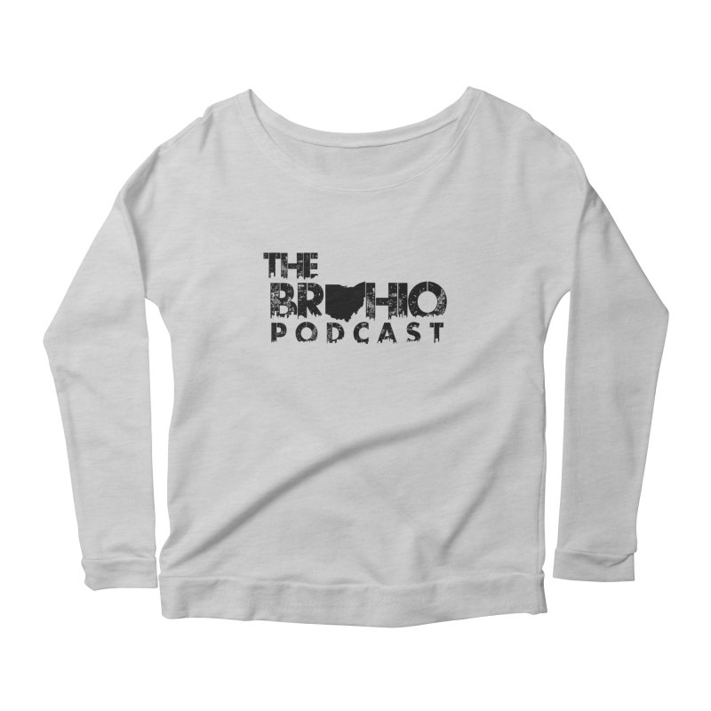 Brohio Logo, Text only. Women's Longsleeve Scoopneck  by Brohio Merch