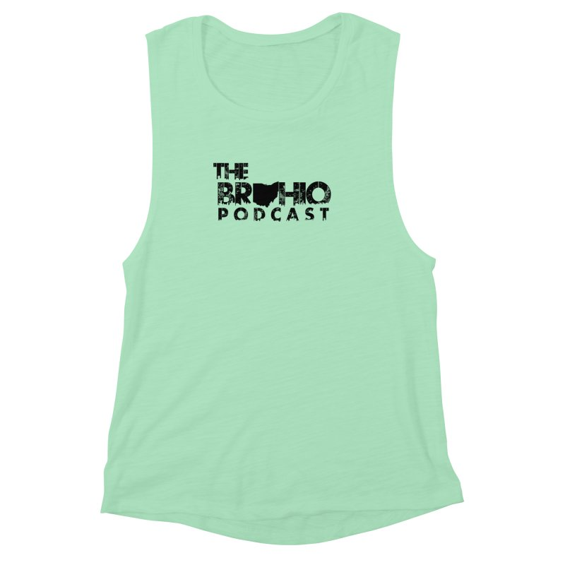 Brohio Logo, Text only. Women's Muscle Tank by Brohio Merch