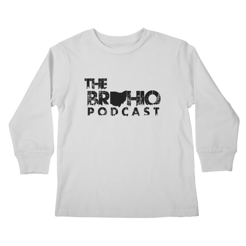 Brohio Logo, Text only. Kids Longsleeve T-Shirt by Brohio Merch