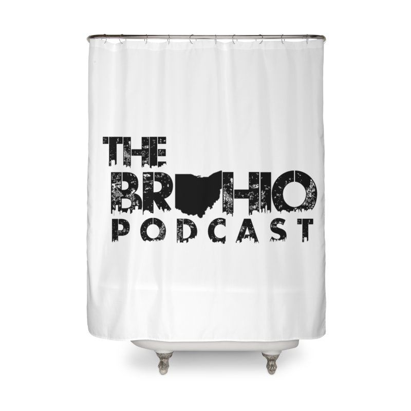 Brohio Logo, Text only. Home Shower Curtain by Brohio Merch