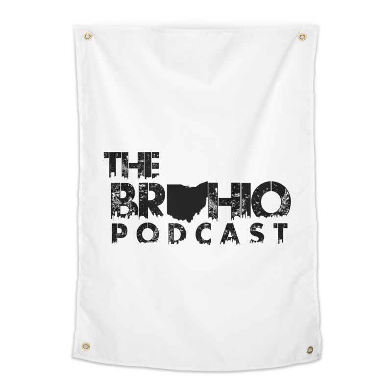 Brohio Logo, Text only. Home Tapestry by Brohio Merch