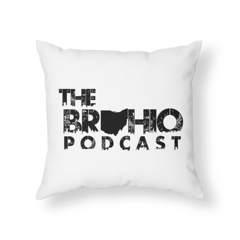 Brohio Logo, Text only. Home Throw Pillow by Brohio Merch