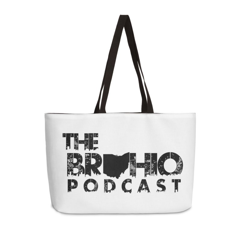 Brohio Logo, Text only. Accessories Weekender Bag Bag by Brohio Merch