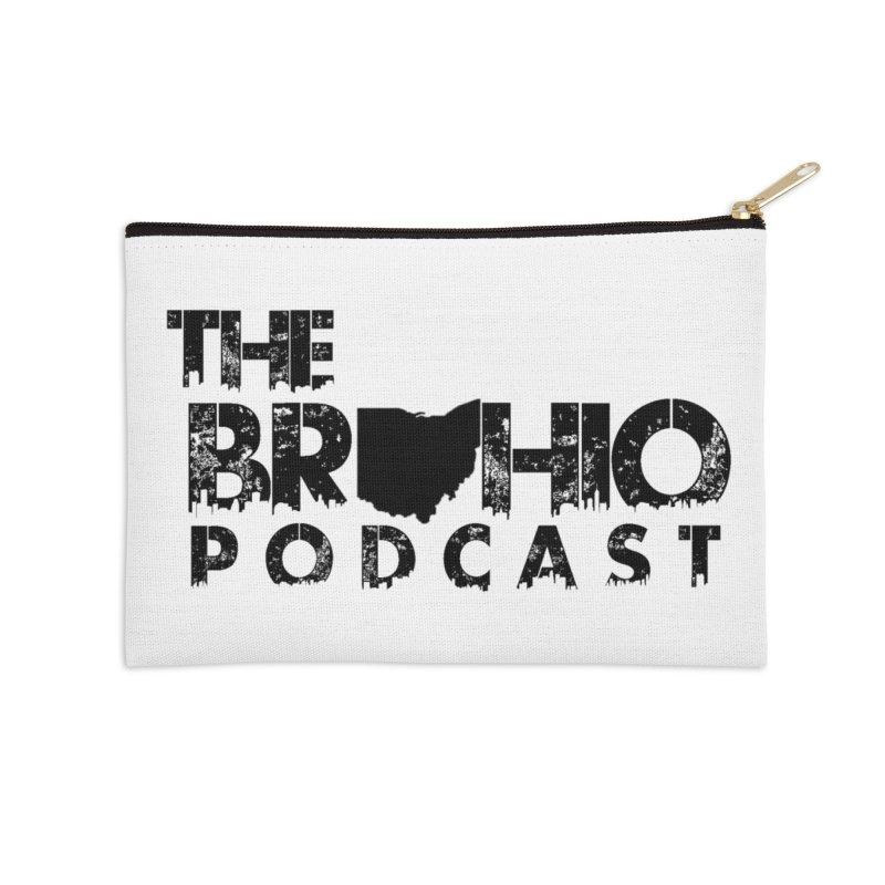 Brohio Logo, Text only. Accessories Zip Pouch by Brohio Merch