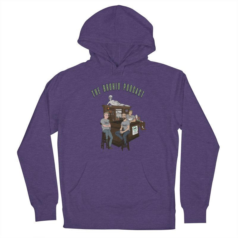 Carton with text Men's French Terry Pullover Hoody by Brohio Merch