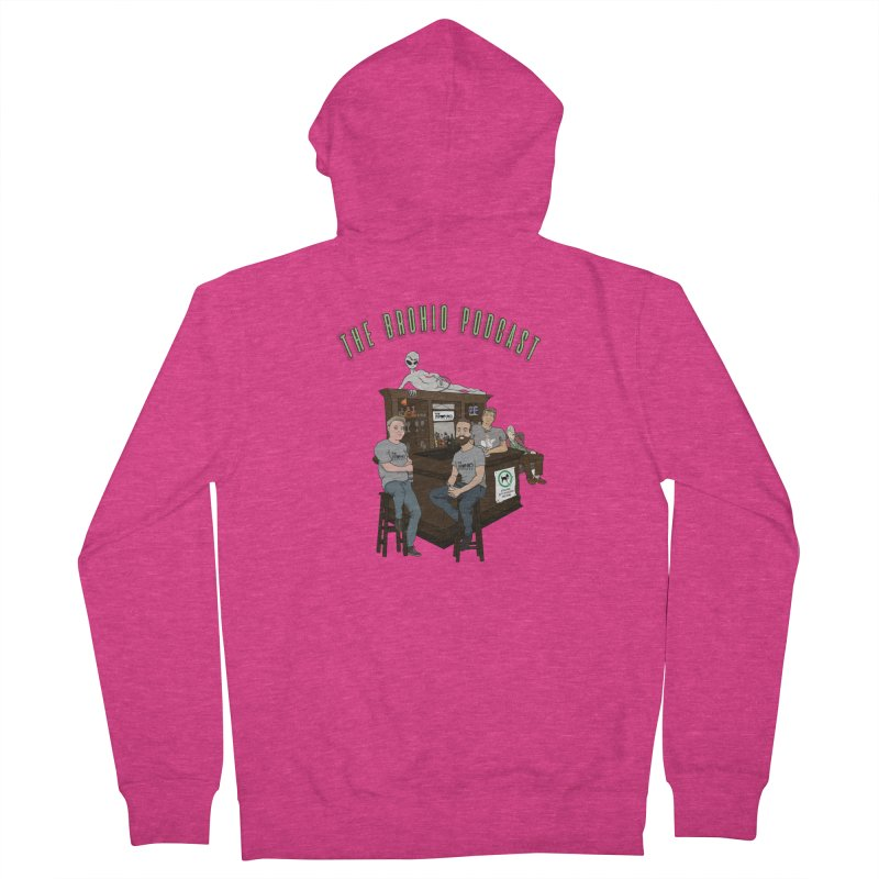 Carton with text Women's French Terry Zip-Up Hoody by Brohio Merch