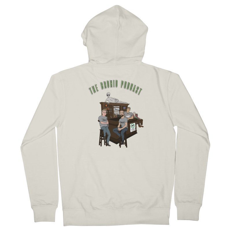 Carton with text Men's French Terry Zip-Up Hoody by Brohio Merch