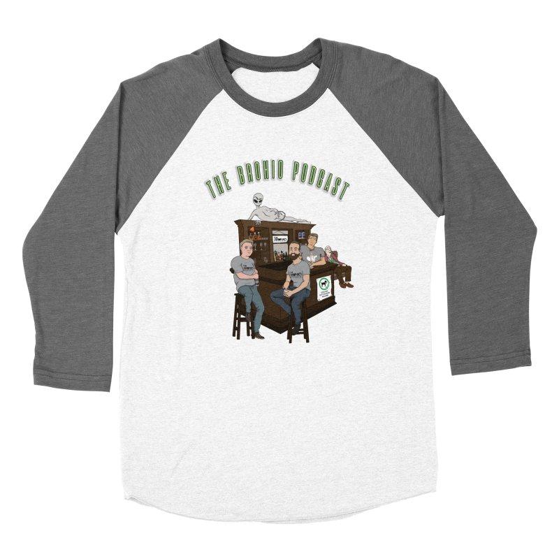 Carton with text Women's Baseball Triblend Longsleeve T-Shirt by Brohio Merch