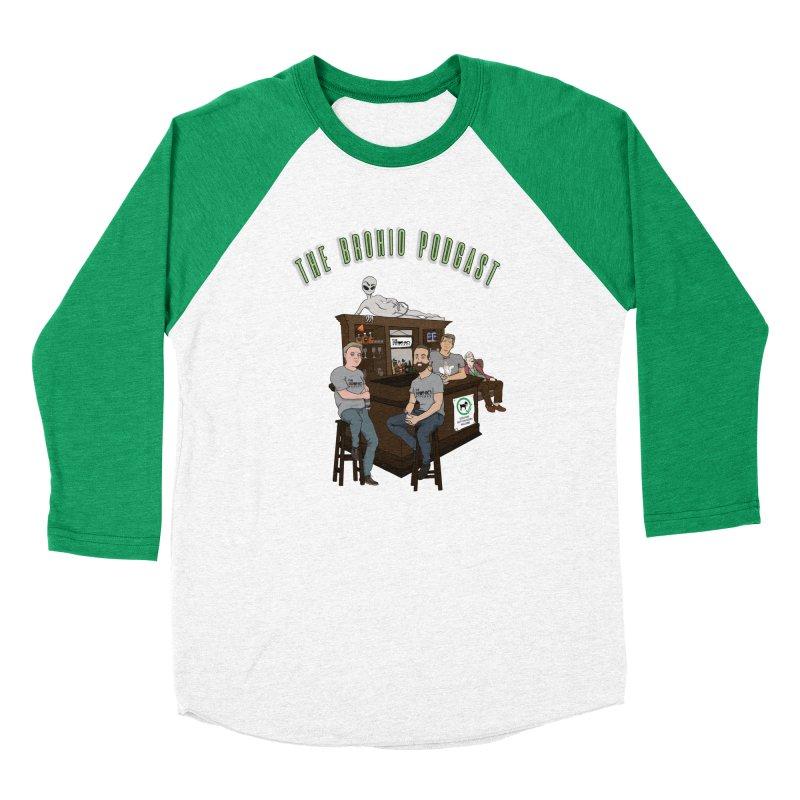 Carton with text Men's Baseball Triblend Longsleeve T-Shirt by Brohio Merch
