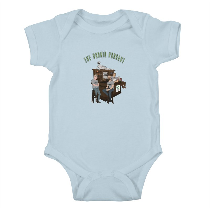 Carton with text Kids Baby Bodysuit by Brohio Merch