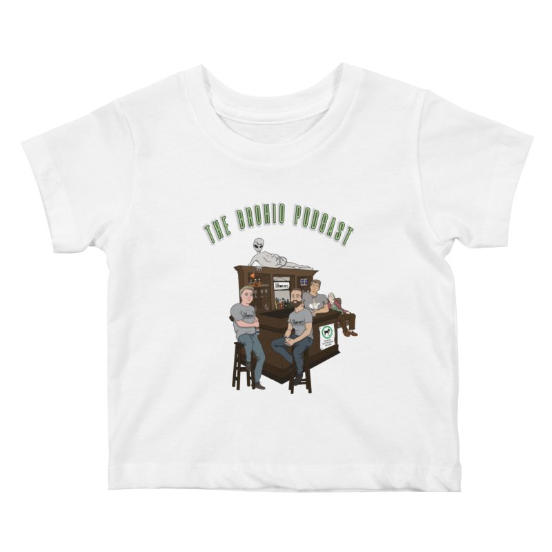 Carton with text Kids Baby T-Shirt by Brohio Merch