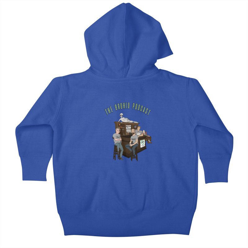 Carton with text Kids Baby Zip-Up Hoody by Brohio Merch