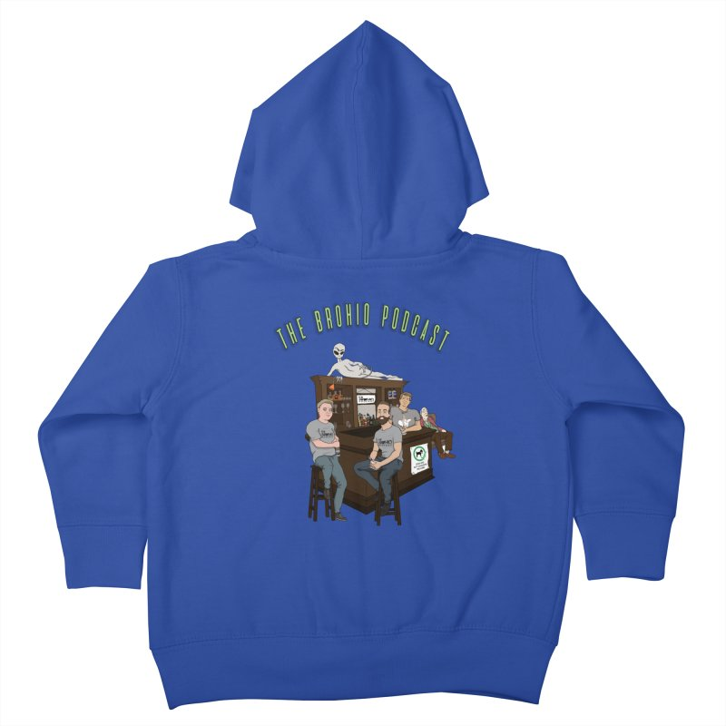 Carton with text Kids Toddler Zip-Up Hoody by Brohio Merch