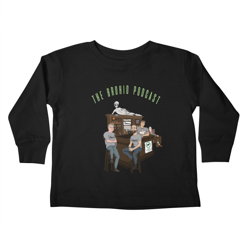 Carton with text Kids Toddler Longsleeve T-Shirt by Brohio Merch