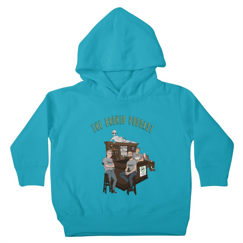 Carton with text Kids Toddler Pullover Hoody by Brohio Merch