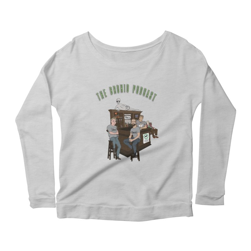 Carton with text Women's Scoop Neck Longsleeve T-Shirt by Brohio Merch
