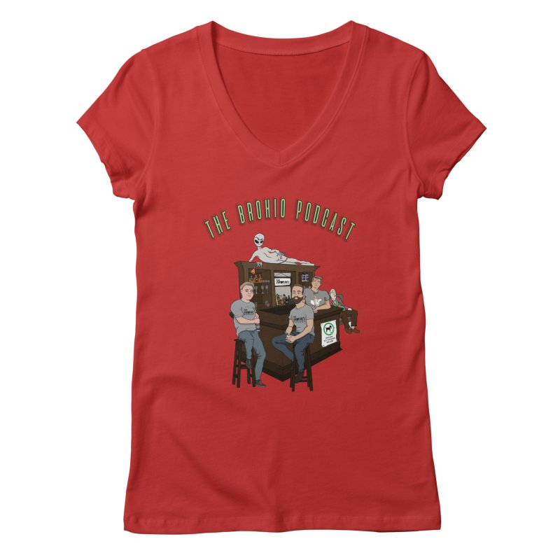 Carton with text Women's Regular V-Neck by Brohio Merch