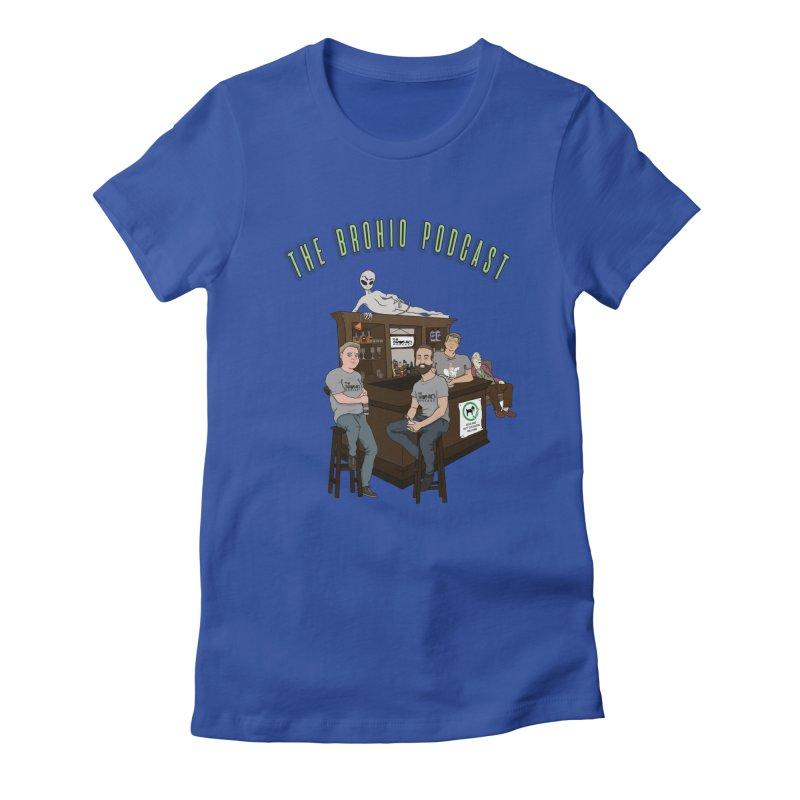 Carton with text Women's Fitted T-Shirt by Brohio Merch