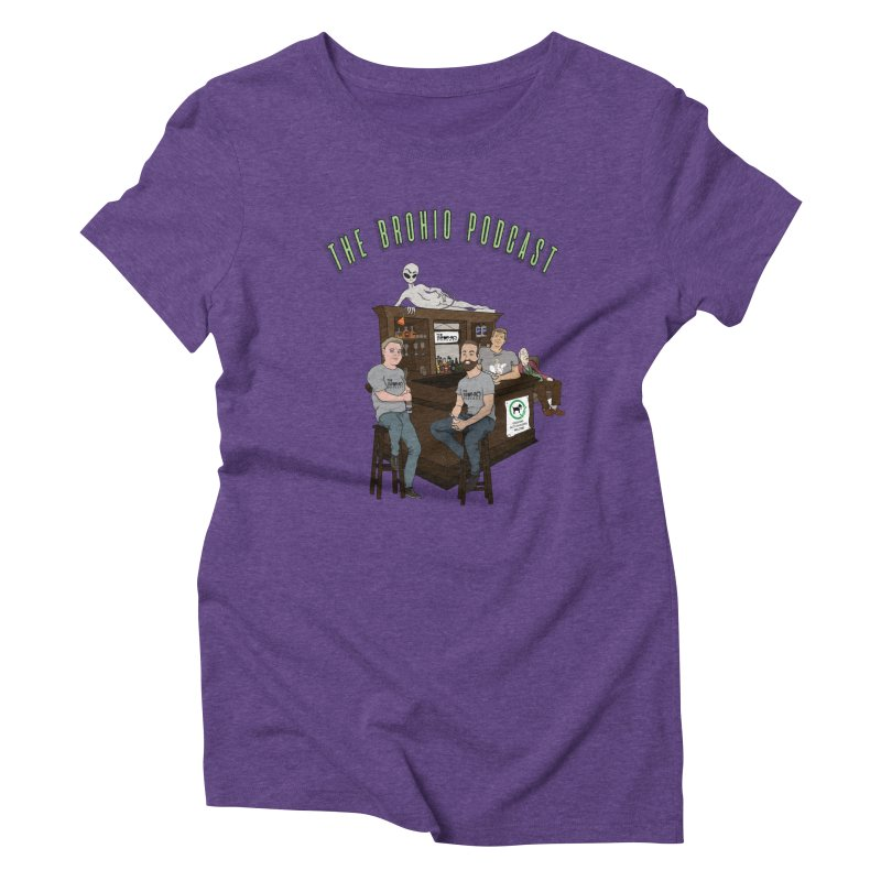 Carton with text Women's Triblend T-Shirt by Brohio Merch