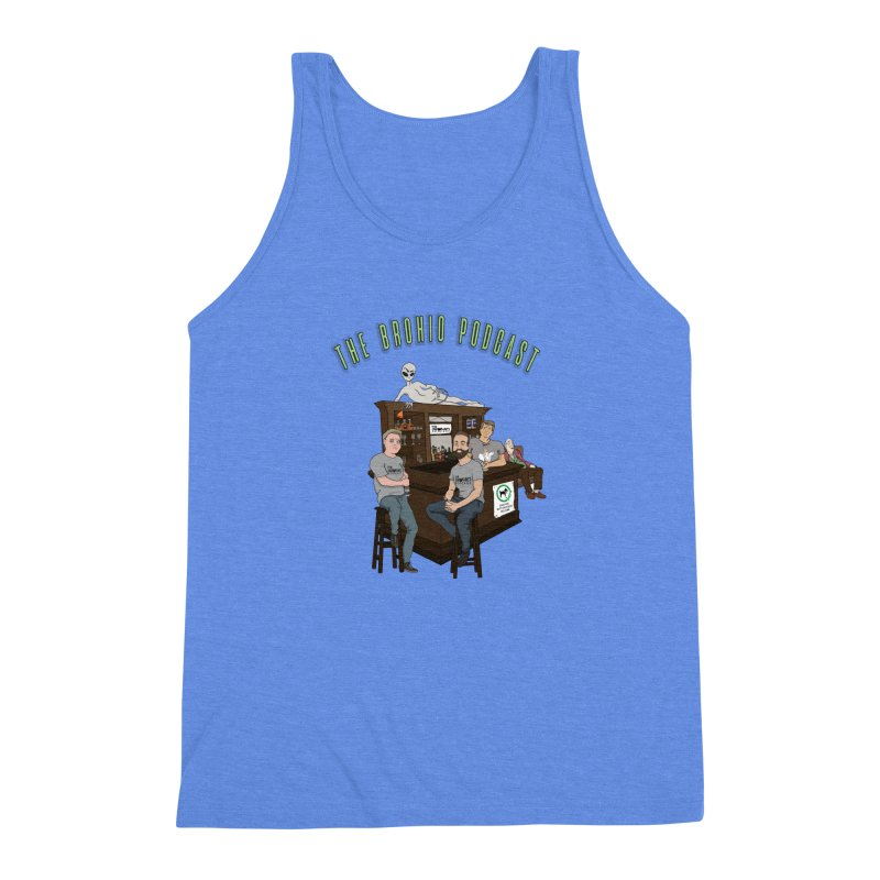 Carton with text Men's Triblend Tank by Brohio Merch