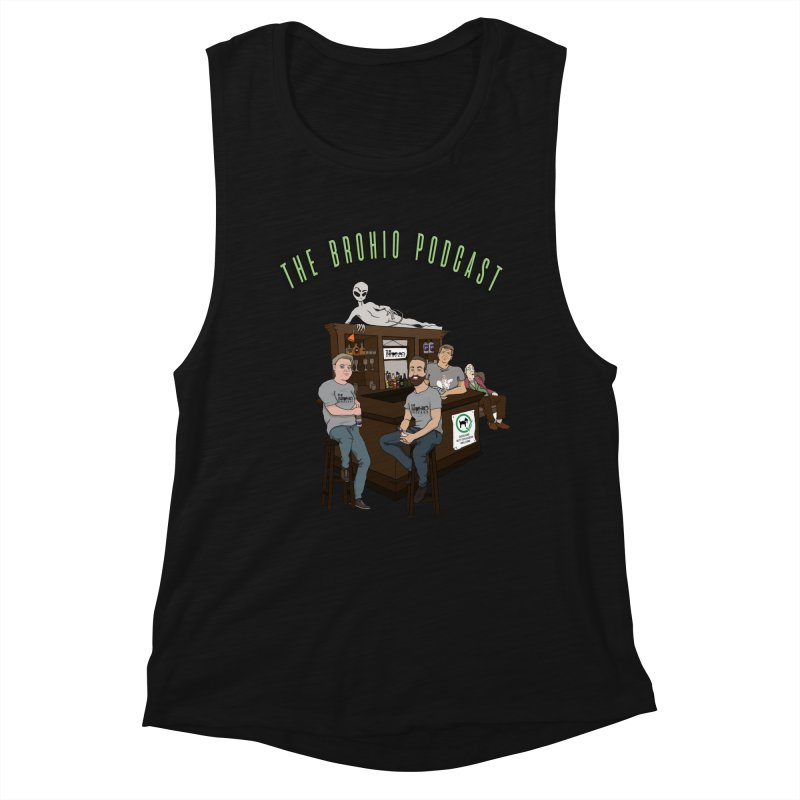 Carton with text Women's Muscle Tank by Brohio Merch