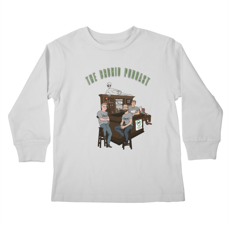 Carton with text Kids Longsleeve T-Shirt by Brohio Merch